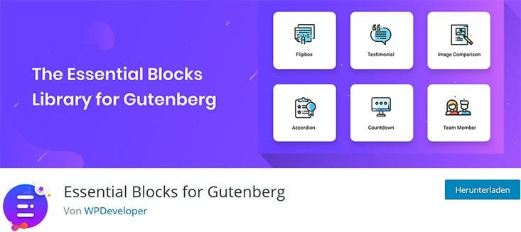 Essential Blocks for Gutenberg