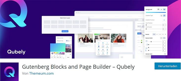 Qubely – Gutenberg Blocks & Pagebuilder