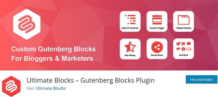Ultimate Blocks - Gutenberg Blocks Plugins