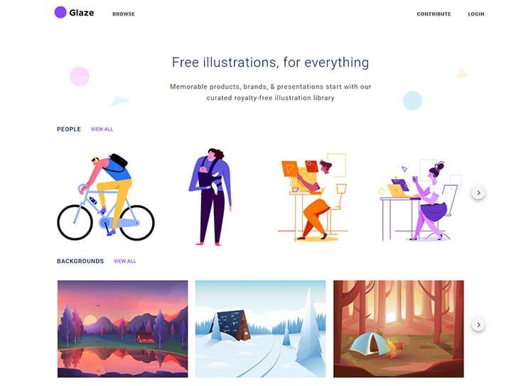 Glaze kostenlose Illustrationen