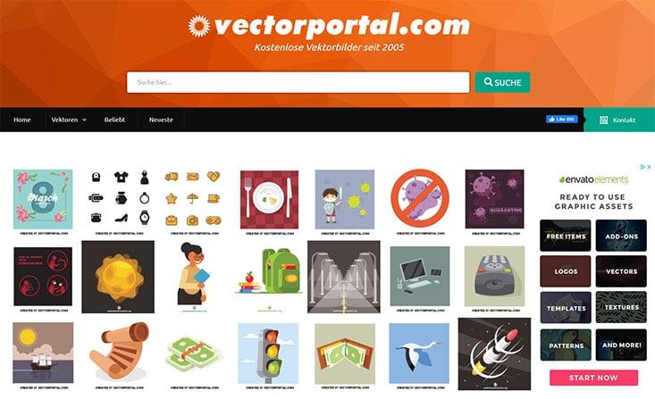 vectorportal screenshot