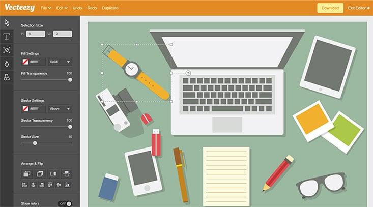 Veectezy Editor - Grafiken im Browser bearbeiten