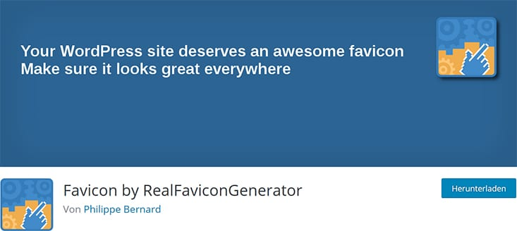 Favicon Plugin von RealFaviconGenerator