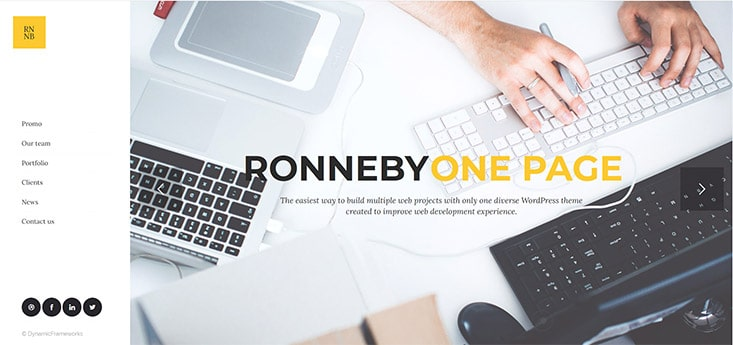 Ronneby One Page Theme