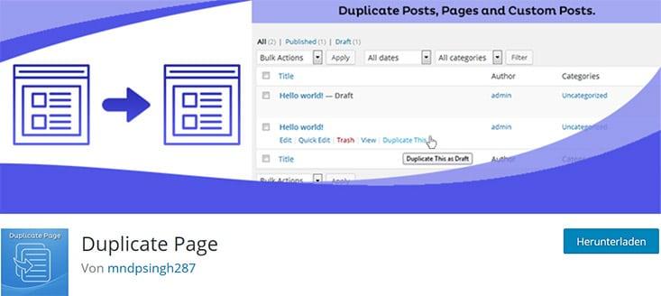 Duplicate Page Screenshot