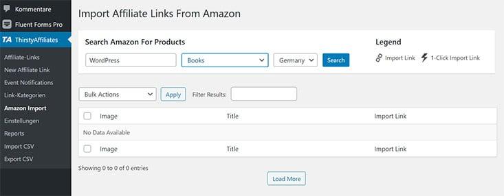 Amazon Link import