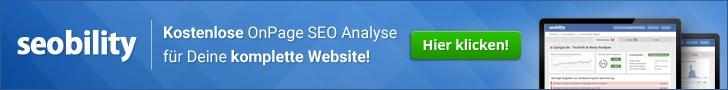 Seobility kostenlose OnPage Analyse