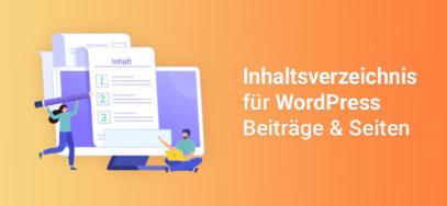 WordPress Inhaltsverzeichnis für Artikel erstellen