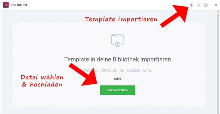 Template Files importieren
