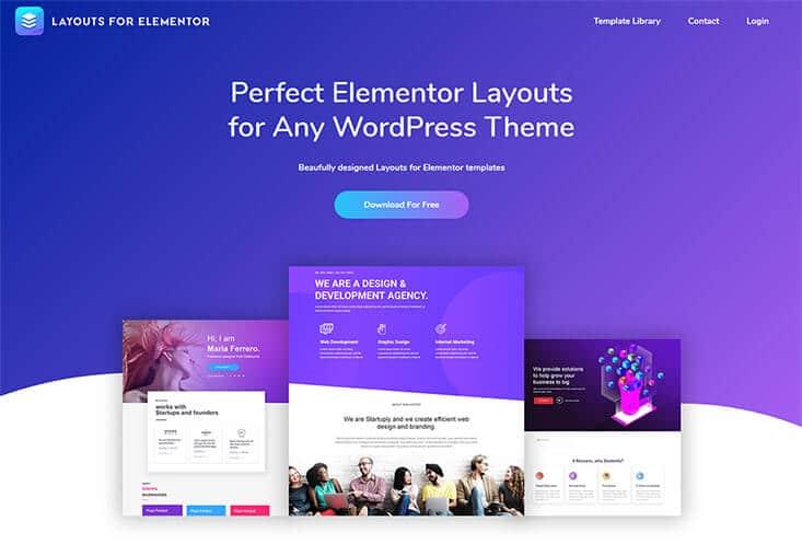 Layouts for Elementor Website Screenshot