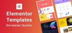 Elementor Templates – die besten Quellen