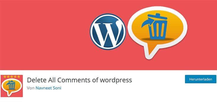Delete All Comments Plugin