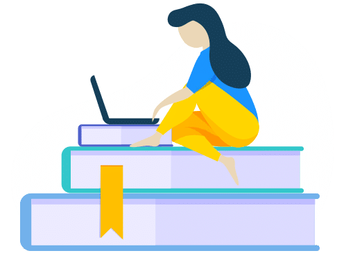 frau mit büchern wordpress lernen