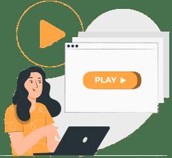 frau nutzt online kurse