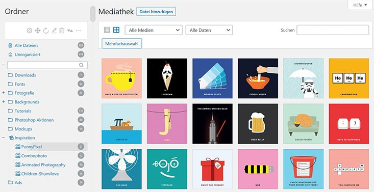 Real Media Library Galerie Beispiel