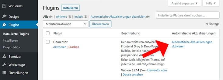 Automatische Updates von Themes und Plugins in WordPress 5.5