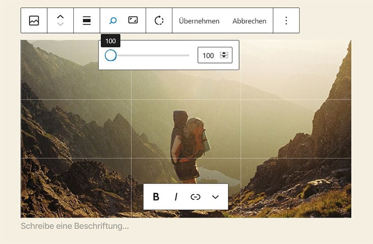 Bildbearbeitung in WordPress 5.5