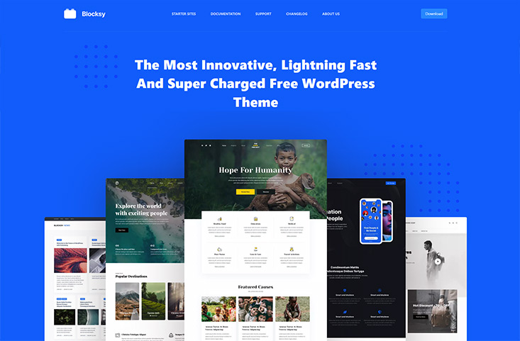 Screenshot Blocky kostenloses WordPress Theme