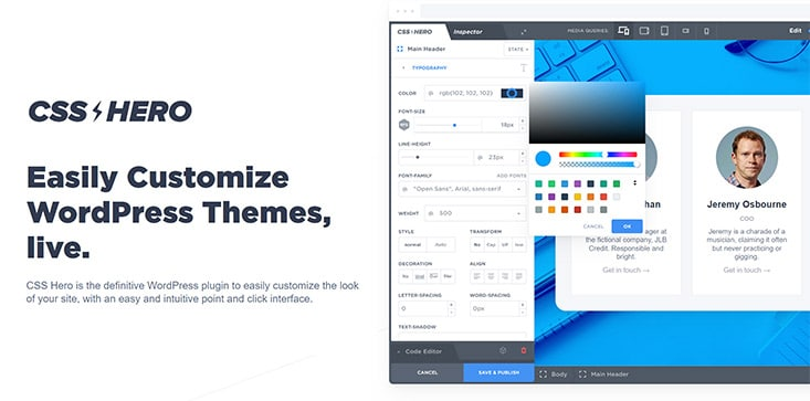 Screenshot Plugin CSS Hero