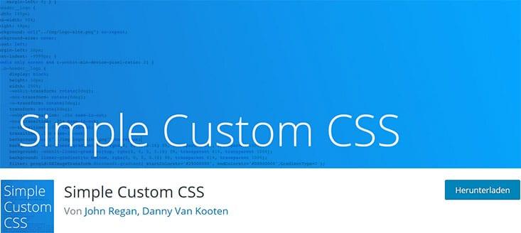 Screenshot Plugin Simple Custom CSS