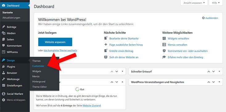 Screenshot Customizer öffnen