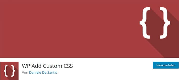 Screenshot Plugin WP Add Custom CSS