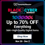 Template Monster Black Friday Angebote
