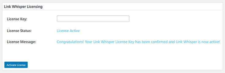 Link Whisper in WordPress aktivieren