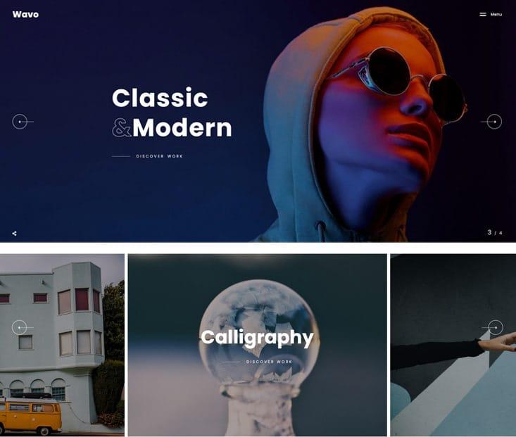 Wavo Demo - kreatives Portfolio Theme