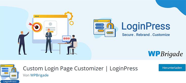 LoginPress zur Anpassung der WP-Login Seite