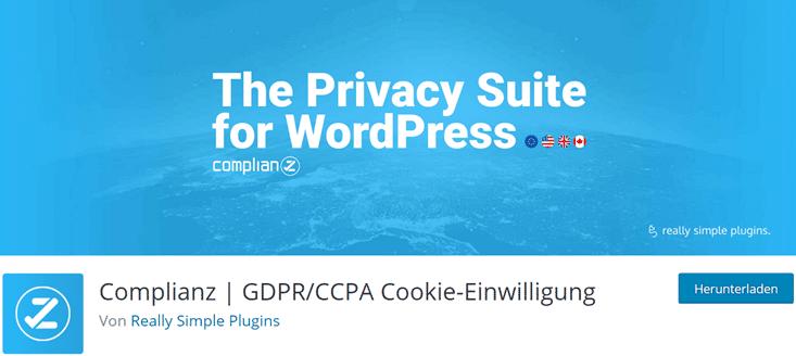 Complianz Cookie Consent Plugin für WordPress