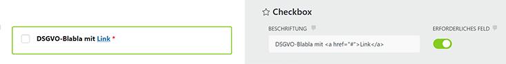 DSGVO Checkbox
