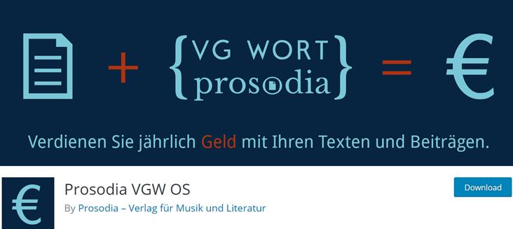 Screenshot von WordPress Plugin Prosodia VGW OS
