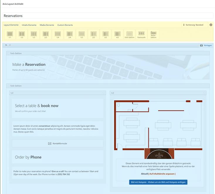 Seite mit Avia Layout Builder bearbeiten