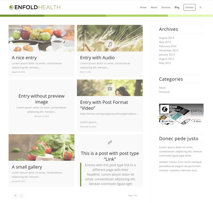 Enfold Theme Blog Layout