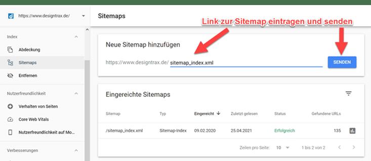 XML Sitemap in Google Search Console einreichen