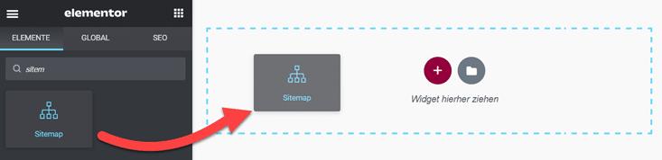 HTML Sitemap mit Elementor einfügen