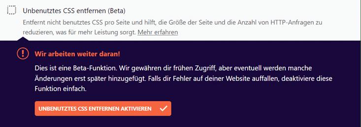 Unbenutztes CSS entfernen