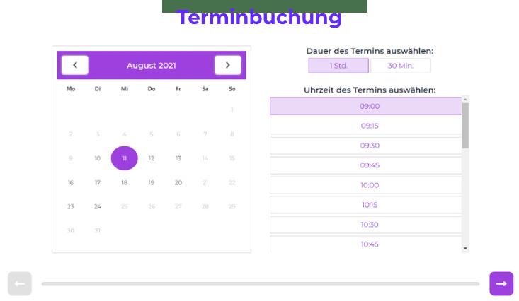 Terminbuchung auf Website anbieten